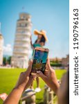 leaning tower of pisa  italy... | Shutterstock . vector #1190796163