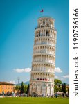 leaning tower of pisa  italy... | Shutterstock . vector #1190796166
