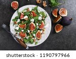 salad with rucola  figs  feta... | Shutterstock . vector #1190797966