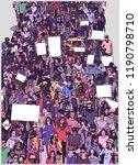 illustration of large crowd... | Shutterstock .eps vector #1190798710