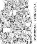 illustration of large crowd... | Shutterstock .eps vector #1190798716