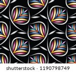 seamless colorful leaves... | Shutterstock .eps vector #1190798749