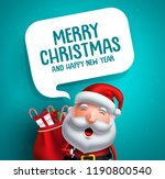 santa claus vector character... | Shutterstock .eps vector #1190800540