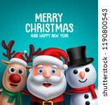 christmas characters vector... | Shutterstock .eps vector #1190800543