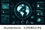 ui interface  earth globe ... | Shutterstock .eps vector #1190802196