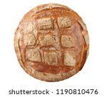 round loaf of bread top view... | Shutterstock . vector #1190810476