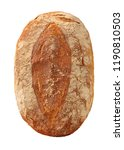 round loaf of bread top view... | Shutterstock . vector #1190810503