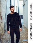 young bearded man  model of... | Shutterstock . vector #1190818333