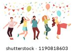 young people at the party... | Shutterstock .eps vector #1190818603