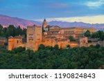 granada  spain. aerial view of... | Shutterstock . vector #1190824843