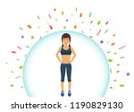 sports woman reflects bacteria. ... | Shutterstock .eps vector #1190829130