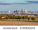 skyline of frankfurt in sunset... | Shutterstock . vector #1190832643
