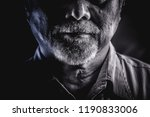 Rugged Old Man Portrait. Old...