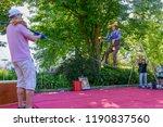 lugano  switzerland   15 july... | Shutterstock . vector #1190837560