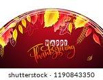 vector greeting thanksgiving... | Shutterstock .eps vector #1190843350