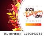 vector greeting thanksgiving... | Shutterstock .eps vector #1190843353