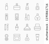 line cosmetics icons on a white ... | Shutterstock .eps vector #1190861716