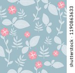 seamless floral pattern with... | Shutterstock .eps vector #1190863633