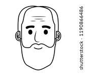 head old man bald with beard... | Shutterstock .eps vector #1190866486