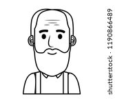 old man bald with beard avatar... | Shutterstock .eps vector #1190866489