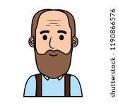 old man bald with beard avatar... | Shutterstock .eps vector #1190866576