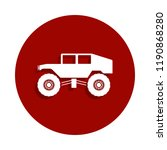 monster trucks icon in badge...