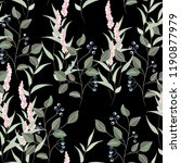 vector floral seamless pattern... | Shutterstock .eps vector #1190877979