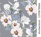 trendy floral pattern with the... | Shutterstock .eps vector #1190878066