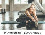 happy caucasian woman...   Shutterstock . vector #1190878093
