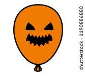 halloween balloon helium with... | Shutterstock .eps vector #1190886880