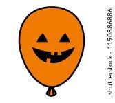 halloween balloon helium with... | Shutterstock .eps vector #1190886886