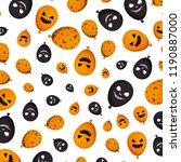 halloween balloon helium with... | Shutterstock .eps vector #1190887000