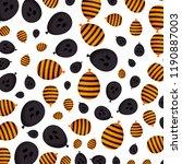 halloween balloon helium with... | Shutterstock .eps vector #1190887003