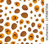 halloween balloon helium with... | Shutterstock .eps vector #1190887006