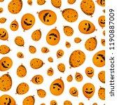 halloween balloon helium with... | Shutterstock .eps vector #1190887009