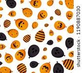 halloween balloons helium... | Shutterstock .eps vector #1190887030