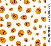 halloween balloon helium with... | Shutterstock .eps vector #1190887039
