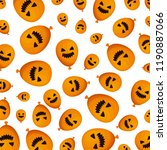 halloween balloon helium with... | Shutterstock .eps vector #1190887066