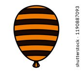 halloween balloon helium with... | Shutterstock .eps vector #1190887093