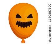 halloween balloon helium with... | Shutterstock .eps vector #1190887900