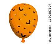 halloween balloon helium with... | Shutterstock .eps vector #1190887909