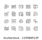 simple set of web development... | Shutterstock .eps vector #1190889139