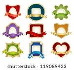 vector labels set | Shutterstock .eps vector #119089423