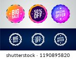 set of color gradient badges... | Shutterstock .eps vector #1190895820