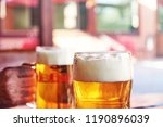 detailed photo of two glasses... | Shutterstock . vector #1190896039