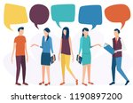 the concept of social...   Shutterstock .eps vector #1190897200