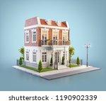 unusual 3d illustration of a... | Shutterstock . vector #1190902339