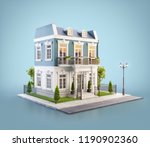 unusual 3d illustration of a... | Shutterstock . vector #1190902360