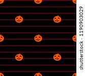 cute pumpkin halloween pattern... | Shutterstock . vector #1190903029