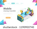 isometric flat vector concept... | Shutterstock .eps vector #1190903740